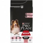 Pro Plan Medium Adult Sensitive Skin корм сухой, полнорационный для взрослых собак средних пород с чувствительной кожей, с лососем и рисом. 1 кг.