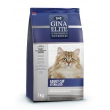Gina Elite Sterilized Cat для стерилизованных котов и кошек c цыпленком