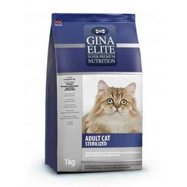 """""""Gina Elite Sterilized Cat"""" для стерилизованных котов и кошек c цыпленком"""