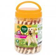 Крученые палочки с уткой для собак, 340 гр (банка)
