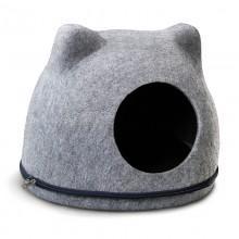 """Домик из войлока """"Кошкин дом"""", серый, 340*430*340мм"""