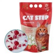 """Наполнитель для кошачьих туалетов Cat Step """"Клубника"""" 3,8 л, силикагелевый впитывающий"""