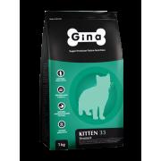 Gina Kitten-33 Denmark корм для котят с курицей 1 кг/фасовка
