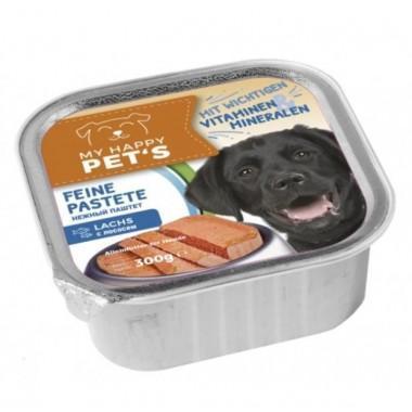 My happy Pets паштет для взрослых собак с лососем 300 гр.