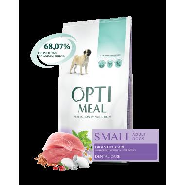 Optimeal Small Adult Dogs Duck для собак малых пород c уткой 1 кг. весовка
