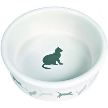 Миска керамическая для кошек TRIXIE 4019 c рисунком КОШКА 0,25л