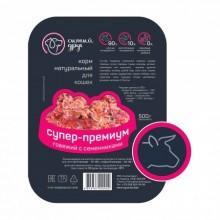 Корм для кошек «Супер-Премиум» говяжий с семенниками, 500 г