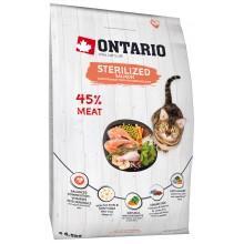 Корм Ontario для стерилизованных кошек, лосось, 1 кг