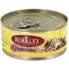 """""""Berkley № 9"""" Пресервы с мясом кролика для взрослых кошек 100 гр."""