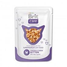Пауч Brit Care Cat с курицей и сыром Kitten