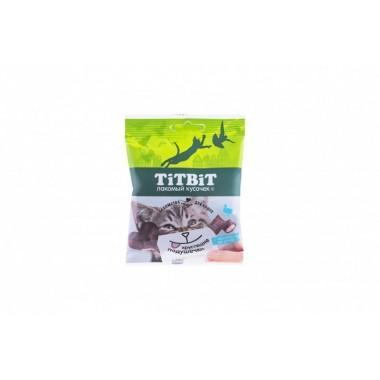 TiT BiT Хрустящие подушечки для кошек с паштетом из утки
