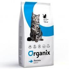 Organix Натуральный корм для кошек со свежим лососем и рисом