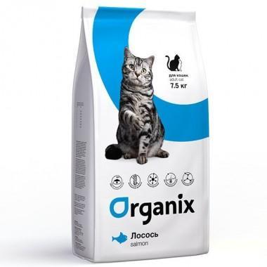 Organix Натуральный корм для кошек со свежим лососем и рисом (Adult Cat Salmon) 1 кг. весовка
