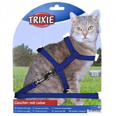 """""""TRIXIE"""" Набор (шлея 18-35 см + поводок 1,3 м/10 мм) для кошек"""