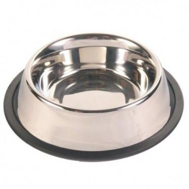 """Миска """"TRIXIE"""" из металла для собак с резиновым ободом 24852"""