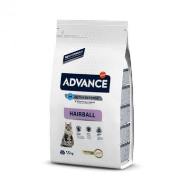 Advance Сухой корм для вывода шерсти у кошек, индейка и рис
