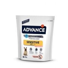 Advance Сухой корм для собак малых пород с чувствительным пищеварением, лосось и рис