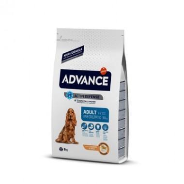 Advance Сухой корм для взрослых собак средних пород с курицей и рисом, 3 кг