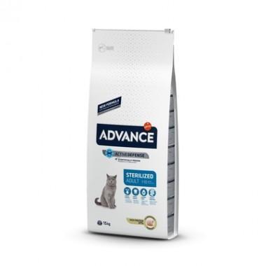 Advance Сухой корм для стерилизованных кошек и кастрированных котов с индейкой, 0,4кг