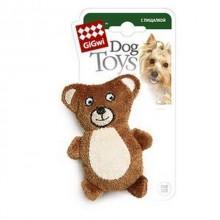 """Игрушка """"GiGwi"""" для собак """"Медведь"""", с 2 пищалками, плюш, 9 см.(арт. 75023)"""