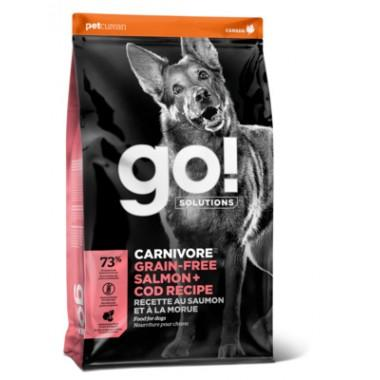 GO Беззерновой корм для щенков всех пород - 4 вида мяса: Индейка, Курица, Лосось, Утка 1,59 кг весовка