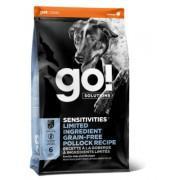 GO Беззерновой корм для щенков и собак с минтаем для чувствительного пищеварения (Sensitivity)