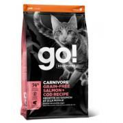"""G.O natural holistic"" беззерновой корм для котят и кошек, с лососем и треской, GO! CARNIVORE GF Salmon + Cod"