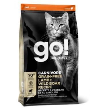 GO Беззерновой корм для Котят и Кошек с Ягненком и мясом Дикого Кабана