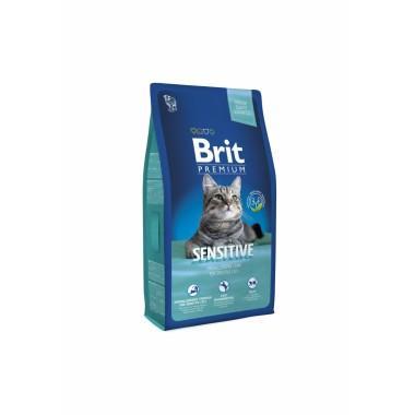 Премиальный полнорационный сухой корм с ягненком и индейкой для кошек с чувствительным пищеварением