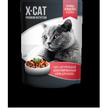 X-CAT Консервы для кошек Курица и Индейка