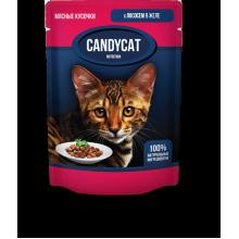 CANDYCAT Консервы для кошек с Лососем в желе