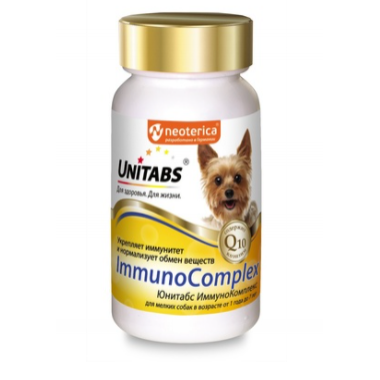 Unitabs витамины ImmunoComplex с Q10 для мелких собак