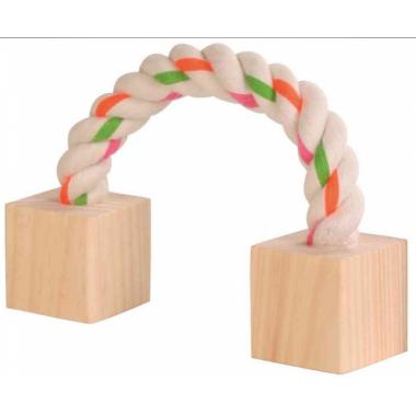 Трикси игрушка для грызунов из дерева и веревки 6186