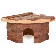 Трикси Домик-Угловой для грызунов из натурального дерева 62041