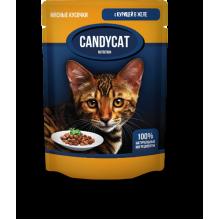 CANDYCAT Консервы для кошек с Курицей в желе