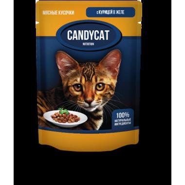 CANDYCAT Консервы для кошек с Курицей 85 гр.