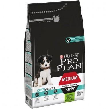 Pro Plan Medium Puppy Sensitive Digestion Корм сухой полнорационный для щенков средних пород с чувствительным пищеварением, с ягнёнком и рисом 1 кг.