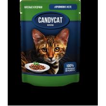 CANDYCAT Консервы для кошек с Кроликом в желе