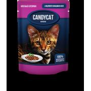 CANDYCAT Консервы для кошек Индейка с овощами в желе