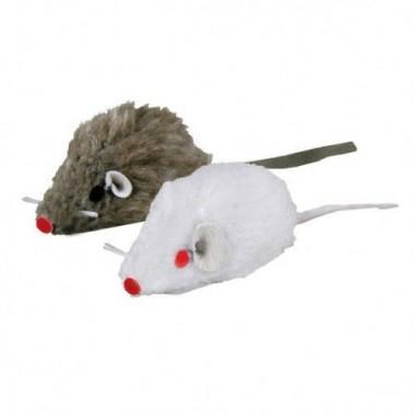 """Набор игрушек """"TRIXIE"""" для кошки в виде мышей, с колокольчиком, плюш 160 шт, 5 см (арт. 4139)"""