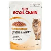 """Консервы """"Royal Canin Intense Beauty"""" для кошек с чувствительной кожей или проблемной шерстью, в желе 85 г ."""