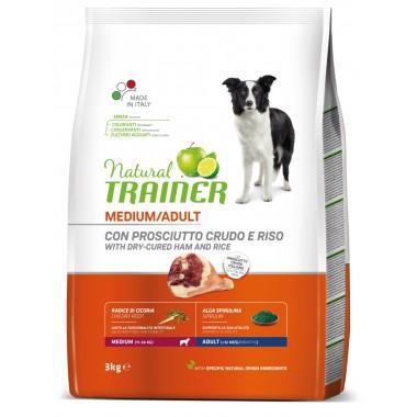 NT Корм сухой для собак средних пород с сыровяленой ветчиной, рисом и маточным молочком, 3кг