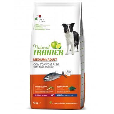 NT Корм сухой для собак средних пород с тунцом, рисом и морскими водорослями, 12кг