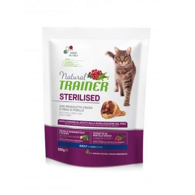 NT Корм сухой для стерилизованных кошек и кастрированных котов с сыровяленной ветчиной, 0,3кг