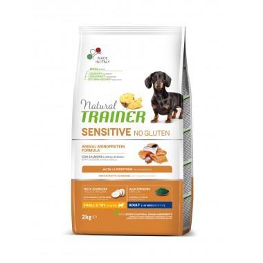NT Корм сухой беззерновой для собак мелких и миниатюрных пород с чувствительным пищеварением, лосось, 2кг