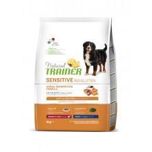 NT Корм сухой беззерновой для собак средних пород с чувствительным пищеварением, лосось