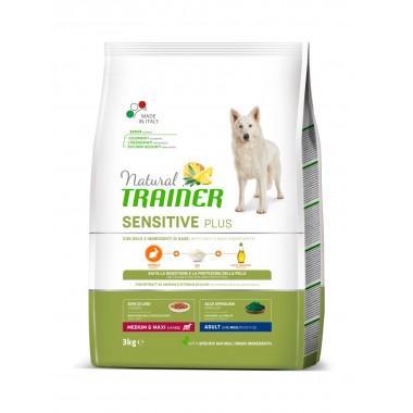 NT Корм сухой для собак средних пород с чувствительным пищеварением, кролик, 3кг