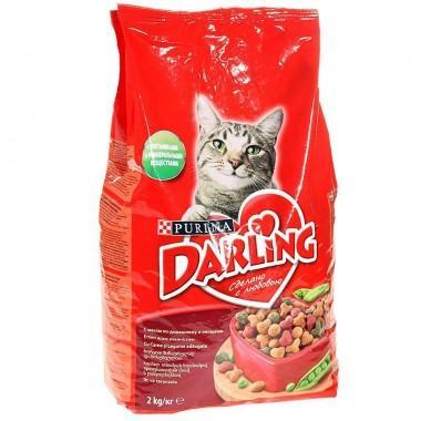Корм для кошек Darling с мясом по-домашнему и овощами 2 кг.