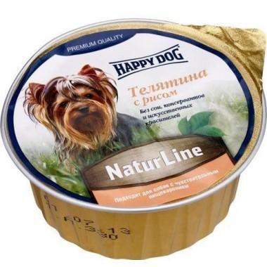 Паштет Happy Dog NaturLine (Телятина, рис) 85 гр.