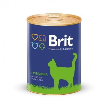 Премиальный консервированный корм для взрослых кошек Говядина